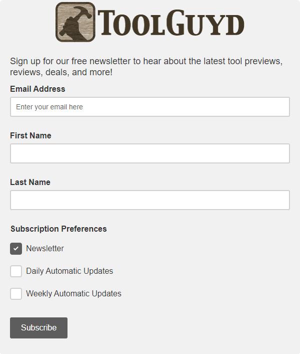ToolGuyd Newsletter Form