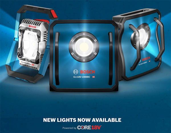 Bosch Connected Cordless Worklights