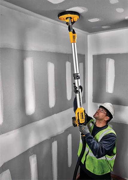 Dewalt Cordless Drywall Sander DCE800 Reaching Overhead