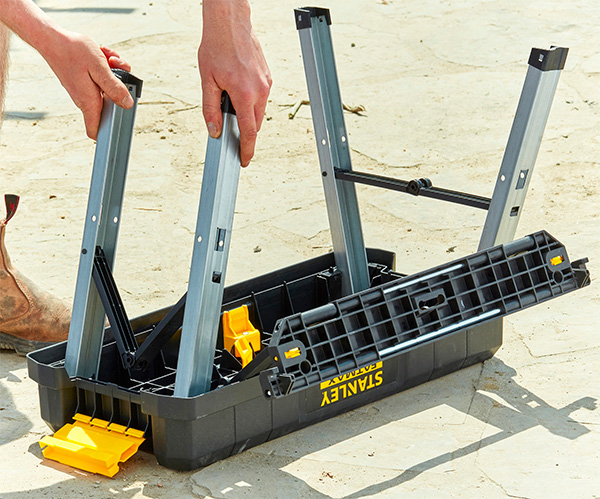 Dewalt Step Ladder Tool Box Folding Closed