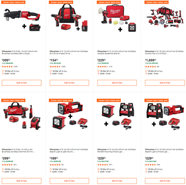 Home Depot Milwaukee Tool Deals of the Day 9-24-2020 Page 1