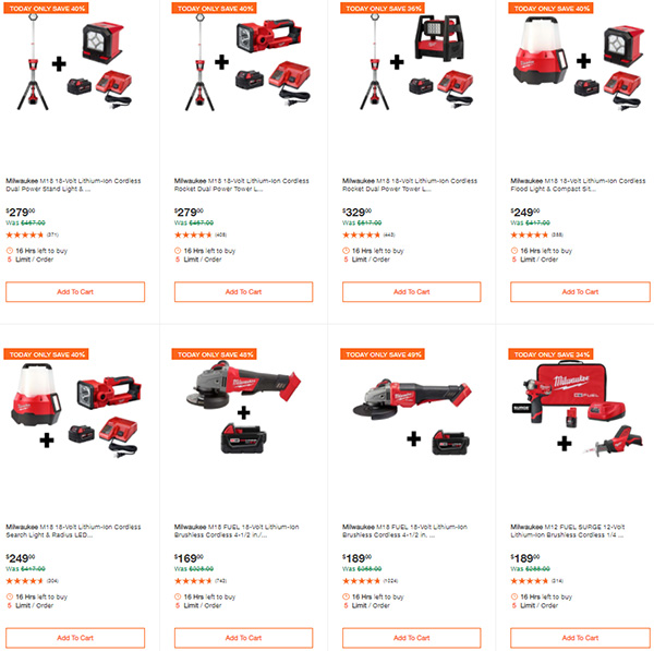 Home Depot Milwaukee Tool Deals of the Day 9-24-2020 Page 2