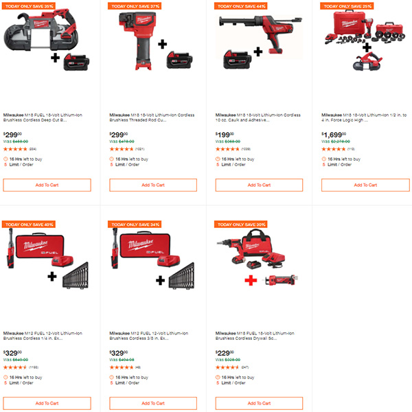 Home Depot Milwaukee Tool Deals of the Day 9-24-2020 Page 3