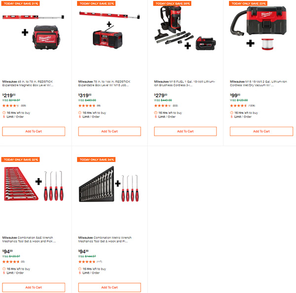 Home Depot Milwaukee Tool Deals of the Day 9-24-2020 Page 6