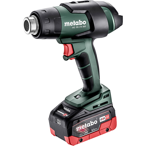 Metabo Cordless Heat Gun HG 18 LTX 500 with 8Ah Battery