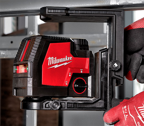 Milwaukee Green Laser with Micro-Adjust Base