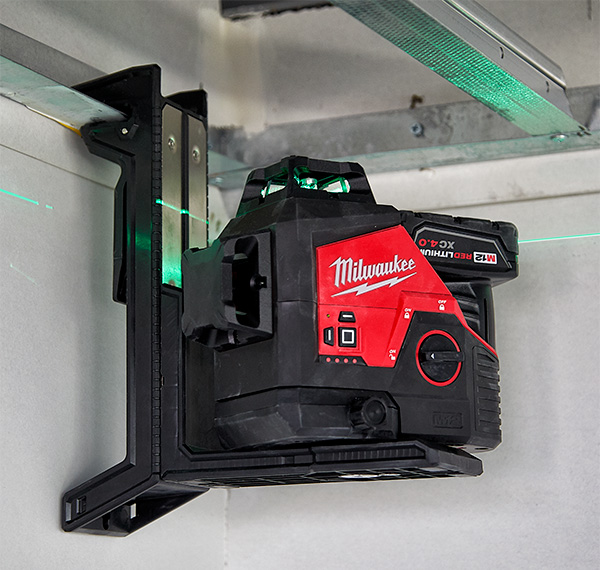 Milwaukee Green Laser with Track Clip