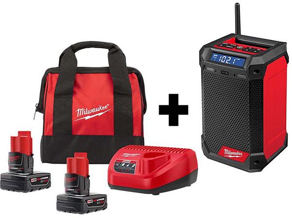Milwaukee M12 Bluetooth Radio Bundle