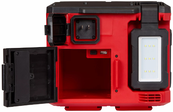 Milwaukee M18 Packout Lightand Charger Phone and Outlet Doors