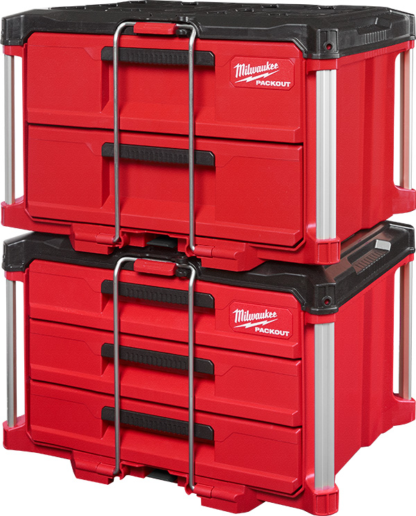 Milwaukee Packout Drawer Tool Boxes Latched Closed