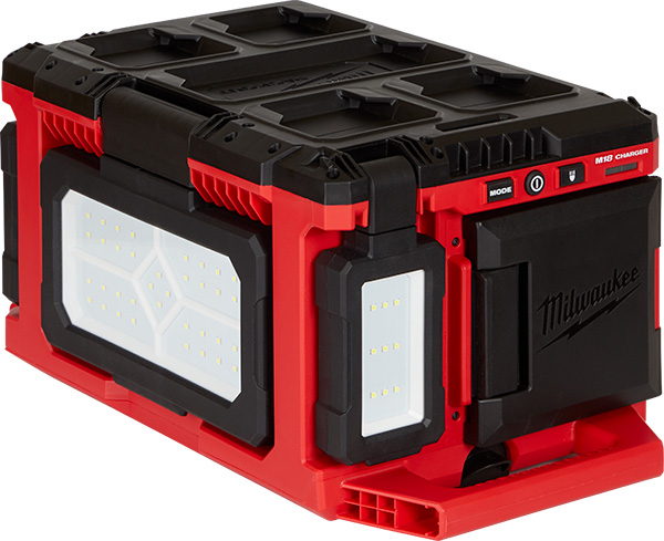 Milwaukee Packout LED Worklight Charger Closed