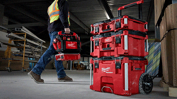 Milwaukee Packout Mobile Tool Box and Tool Bag Carried Away