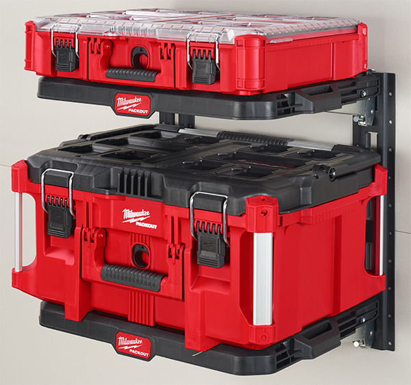 Milwaukee Packout Wall Shelves with Tool Boxes