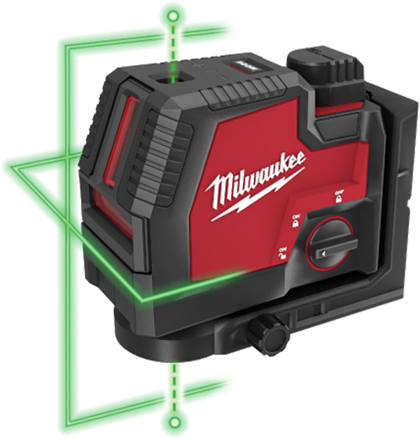 Milwaukee RedLithium USB Cross-Line and Points Laser Beams