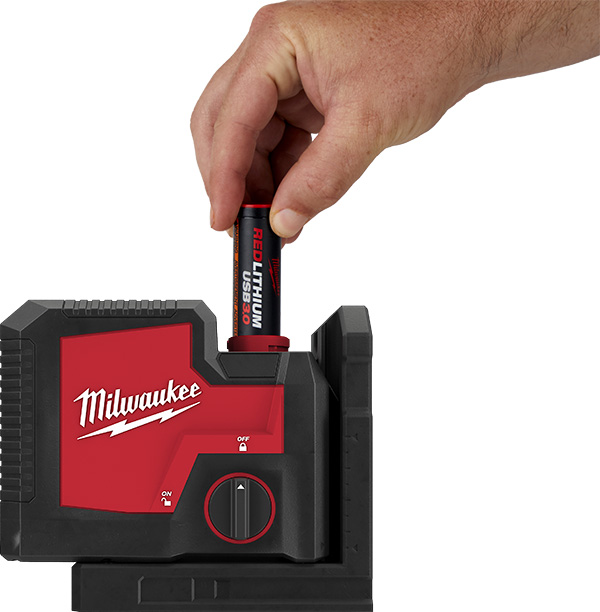 Milwaukee RedLithium USB Lasers Rechargeable Battery