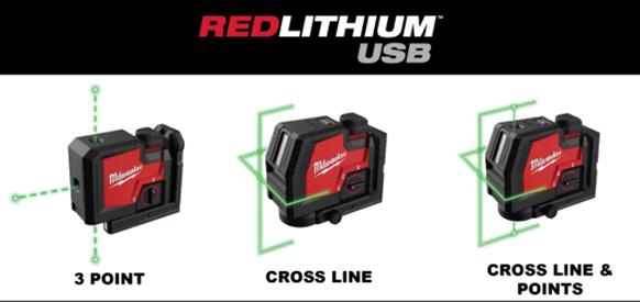 Milwaukee RedLithium USB Lasers