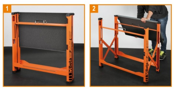 Beta Tools Folding Workbench Opening Steps