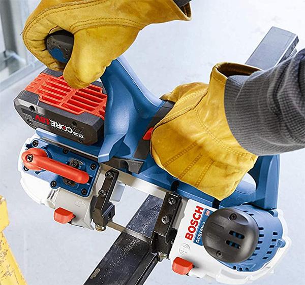 Bosch GCB18V-2N Compact Cordless Band Saw Cutting