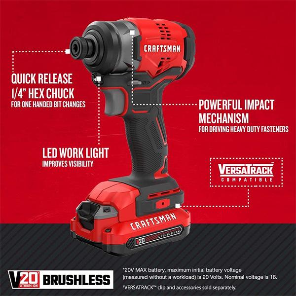 Craftsman Brushless Impact Driver Kit