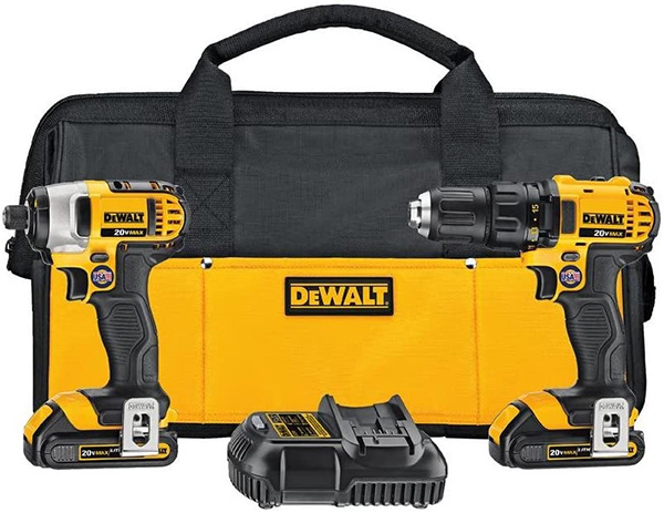 Dewalt DCK280C2 Cordless Drill and Impact Driver Combo Kit