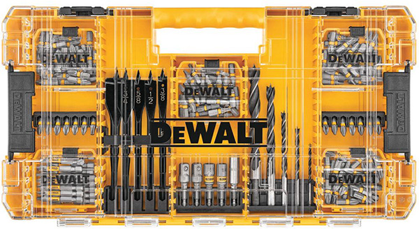 Dewalt MaxFit 160pc Screwdriver Bit Set and Large ToughCase Organizer
