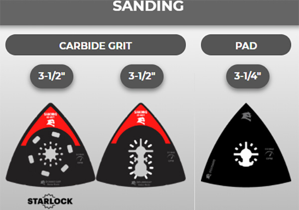 Diablo Oscillating Multi-Tool Blades for Sanding
