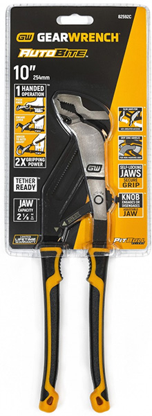 Gearwrench Pitbull Adjustable Pliers Packaging