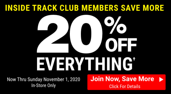 Harbor Freight 20 Percent Off Everything Inside Track Members