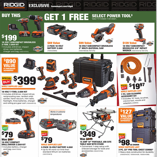 Home Depot Black Friday 2020 Tool Deals Page 13