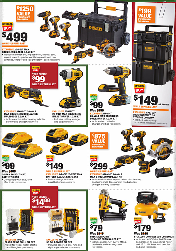 Home Depot Black Friday 2020 Tool Deals