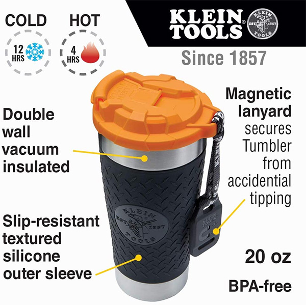 Klein Tradesman Tumbler Features