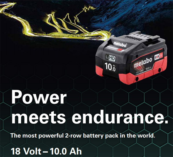 Metabo 18V Compact 10Ah Battery Power Claims