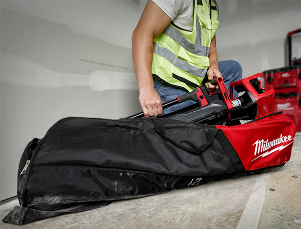 Milwaukee 2136-21 M18 Rocket Tower Light Charger in Carrying Case on Floor