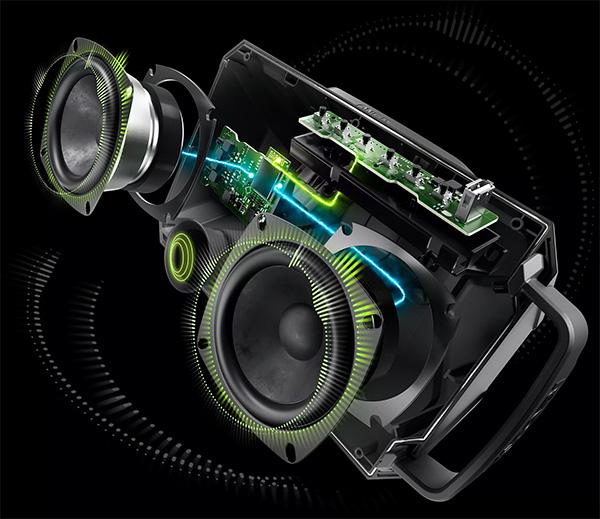Ryobi PAD01B Bluetooth Speaker Internal Design