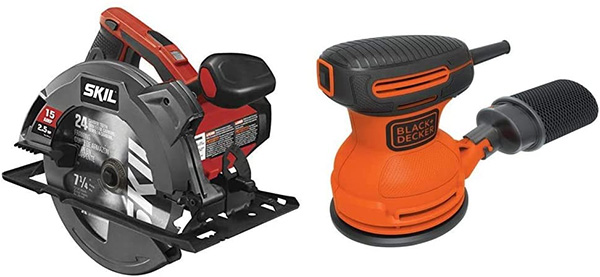 Skil Circular Saw and Black Decker Sander