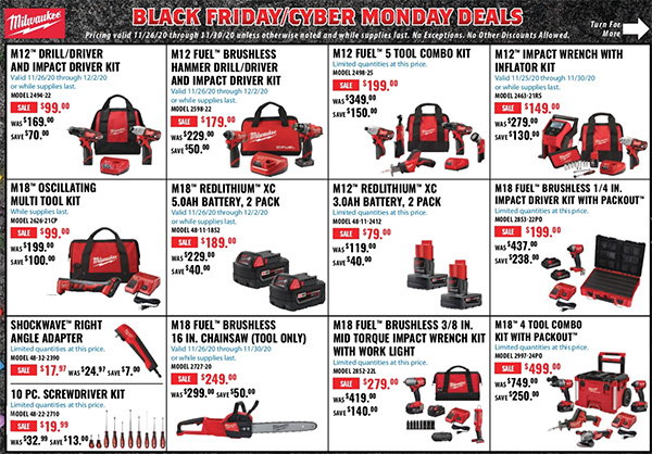 Acme Tools Black Friday 2020 Tool Deals Page 1