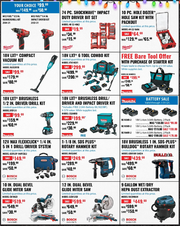 Acme Tools Early Black Friday 2020 Tool Deals Page 3