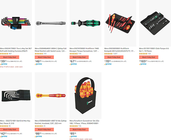 Amazon Black Friday Deal Wera Hand Tools 2020 Page 2