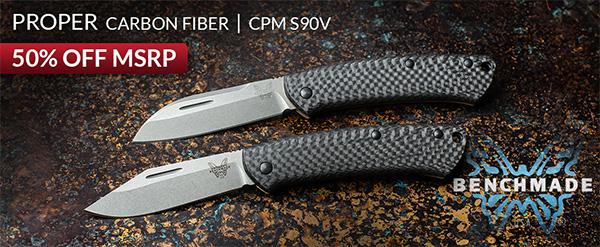 Benchmade Proper Knife Carbon Fiber KnivesShipFree