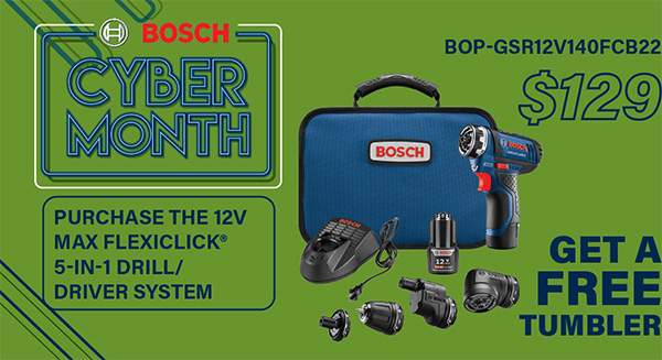 Bosch Cyber Month Deal FlexiClick Kit International Tool 2020