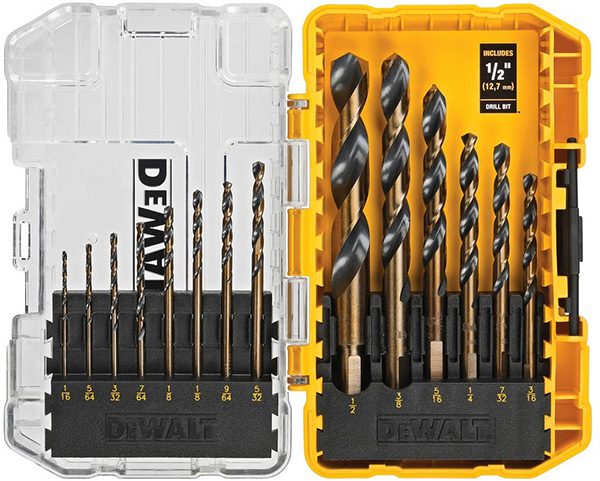 Dewalt 14pc Drill Bit Set Black and Gold