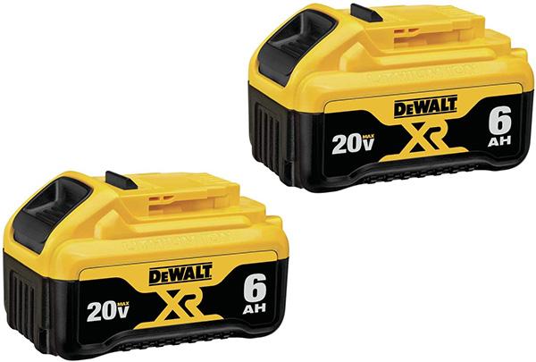 Dewalt 20V Max 6Ah Battery 2-Pack