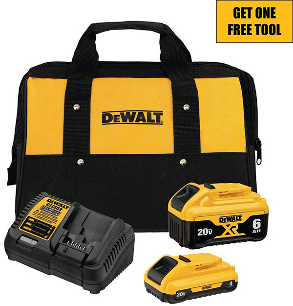 Dewalt 20V Max Black Friday 2020 Cordless Power Tool Starter Kit