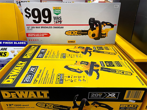 Dewalt 20V Max Cordless Chainsaw Deal