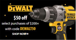 Dewalt 50 off 200 Coupon Pre Black Friday 2020 Tool Deal