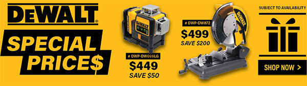 Dewalt Cyber Sunday Specials International Tool 2020