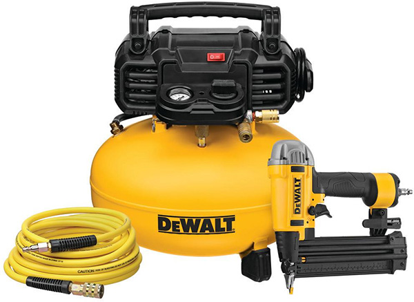Dewalt DWFP1KIT Air Compressor and Brad Nailer Combo Kit Deal Home Depot Black Friday 2020