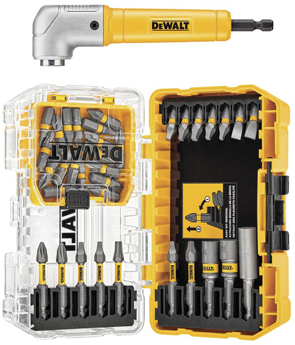 Dewalt MaxFit Screwdriver Bit Set and Right Angle Adapter DWAMF35RA