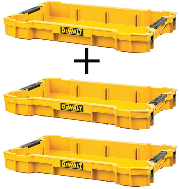 Dewalt ToughSystem 2 Tool Tray 3-Pack