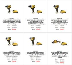 Dewalt Xtreme 12V Cordless Power Tool Deals Black Friday 2020